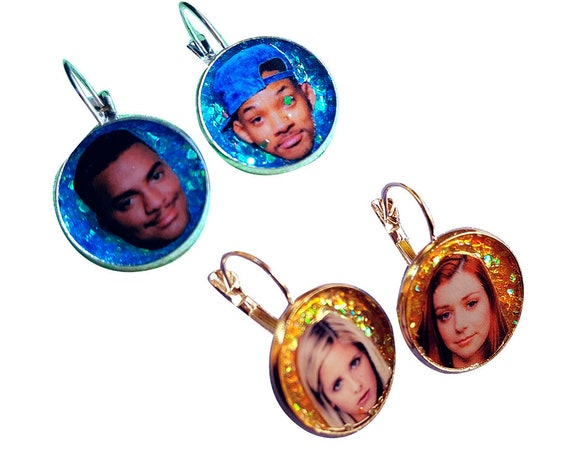 The Fresh Prince of Bel-Air and Buffy the Vampire Slayer glitter earring