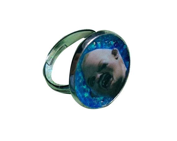 SLOTH glitter ring
