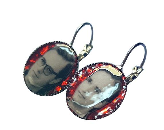 KRAFTWERK  handmade glitter earring