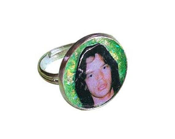 Mick Jagger glitter ring