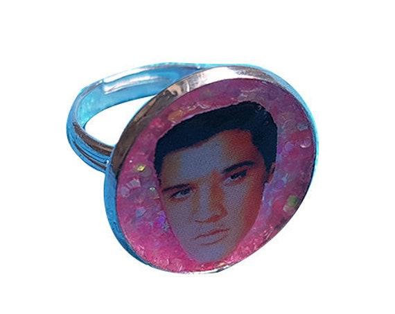 ELVIS PRESLEY glitter ring
