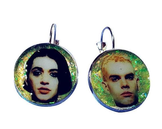 PLACEBO (Brian Molko y Stefan Olsdal)  glitter earring