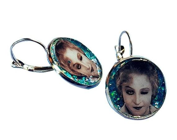 METROPOLIS glitter earring