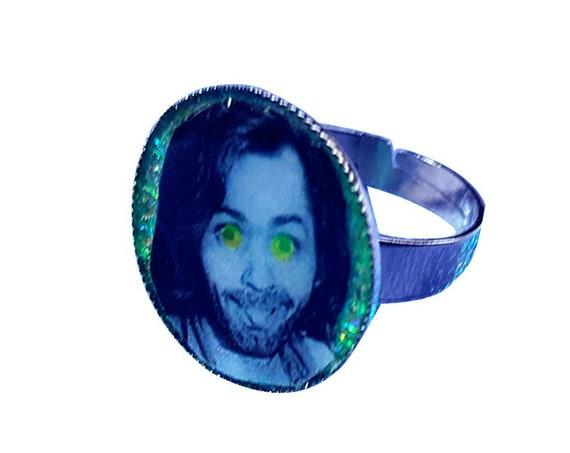 CHARLES MANSON glitter ring