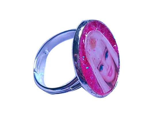 BARBIE glitter ring