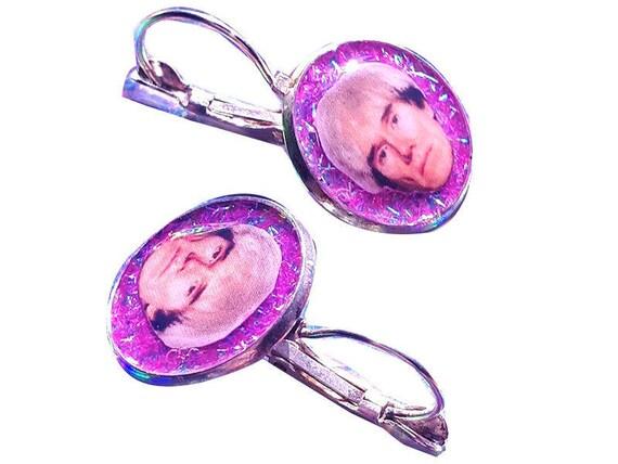 ANDY WARHOL glitter earring
