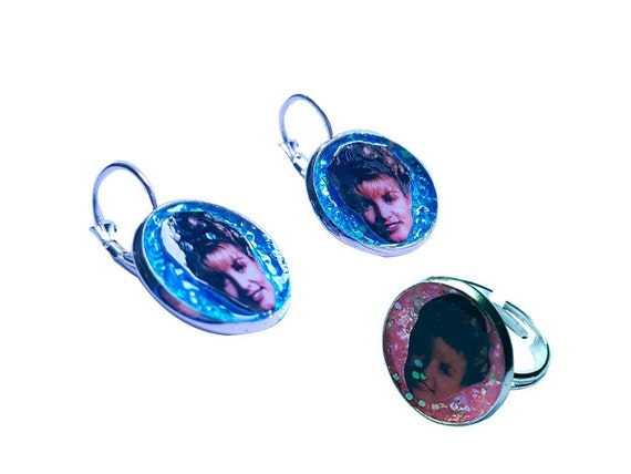 LAURA PALMER glitter ring and earring