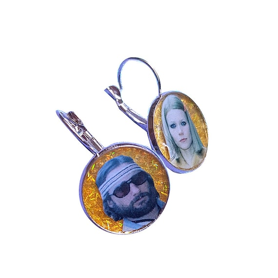MARGOT and RICHIE (the royal tenenbaums) glitter earring