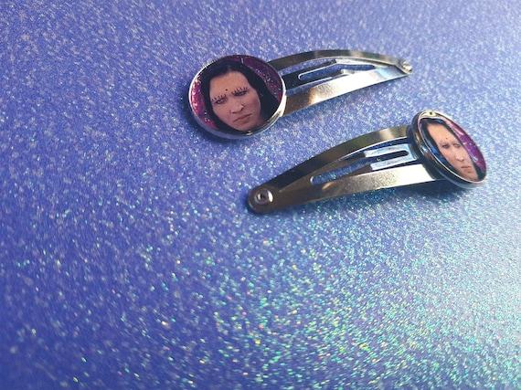 Marilyn Manson glitter hairpin