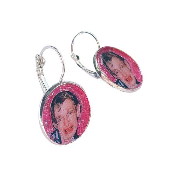 STEPHEN HAWKING glitter earring