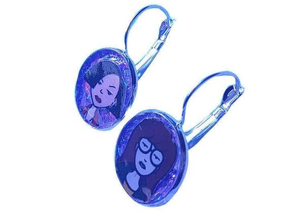 DARIA and JANE glitter earring