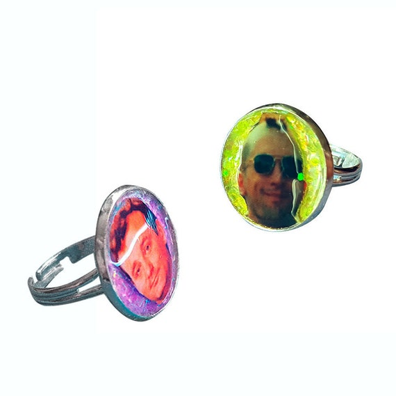 Ghostbusters / TAXI DRIVER glitter ring