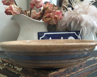 Sale// Antique// Primitive// Stoneware// Pie Plate// Triple Blue Stripe// Very Darkened \u0026 Tea Stained// Blue Lover\u0027s// Oldie! : temptations pie plate - pezcame.com