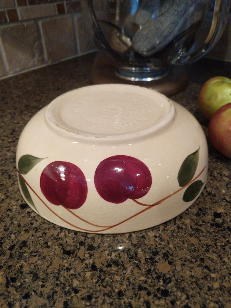 Antique Double Apple Watt Bowl U.S.A Wonderful Old Bowl!