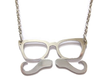 Hipster necklace in sterling silver