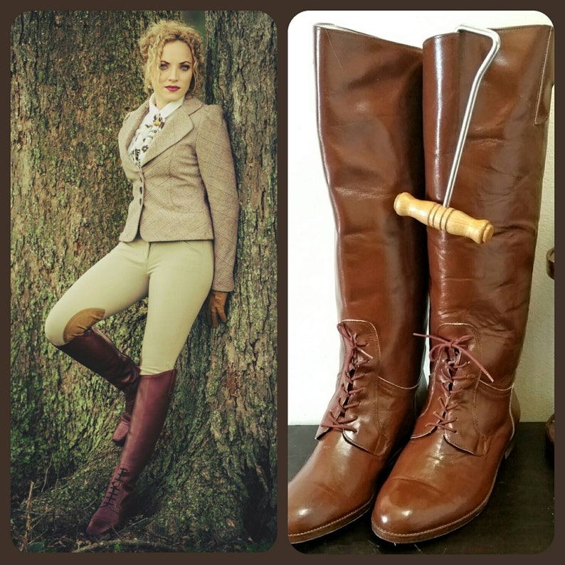 8102ce49d84f Chestnut Brown Equestrian Riding Boots Mens Womens Unisex