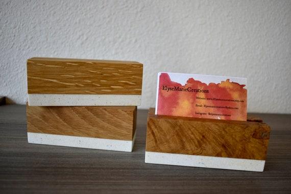 Weiße Eiche Visitenkartenetui Visitenkarten Etui Holz Visitenkarten Etui Holz Papiergewicht