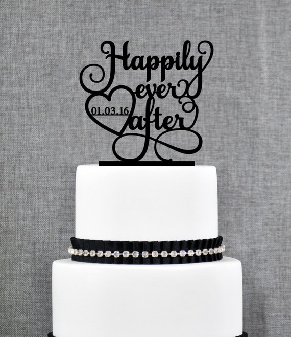 Custom Happily Ever After Cake Topper Wedding Cake Toppers Etsy