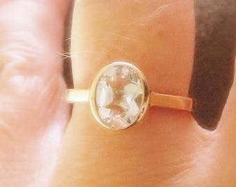 Oval Moissanite 14K Gold, Forever One, Yellow, White, Rose Gold, Bezel Ring, Alternative Engagement