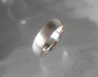 Sterling Silver Mens Wide Wedding Band, Made to Order