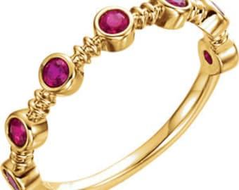 Ruby, Emerald Rings