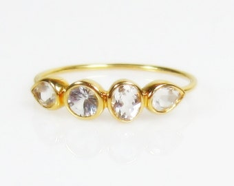 Topaz, Quartz Rings