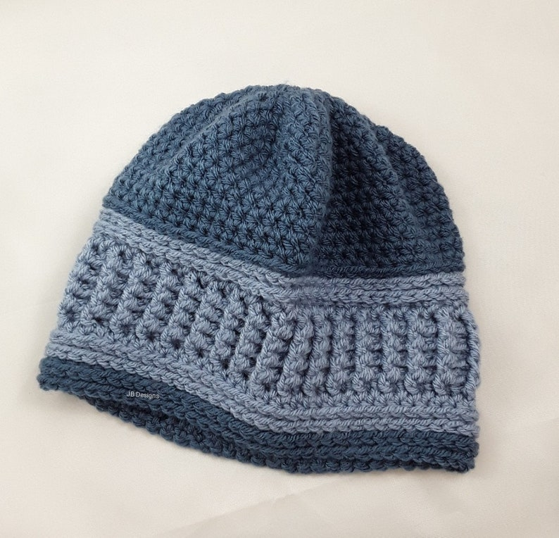 bf10f004b ribbed beanie hat, men, ladies, team colors, school colors, ribbed, beanie,  unisex, ski hat, winter hat, unique teen hat, two toned blue