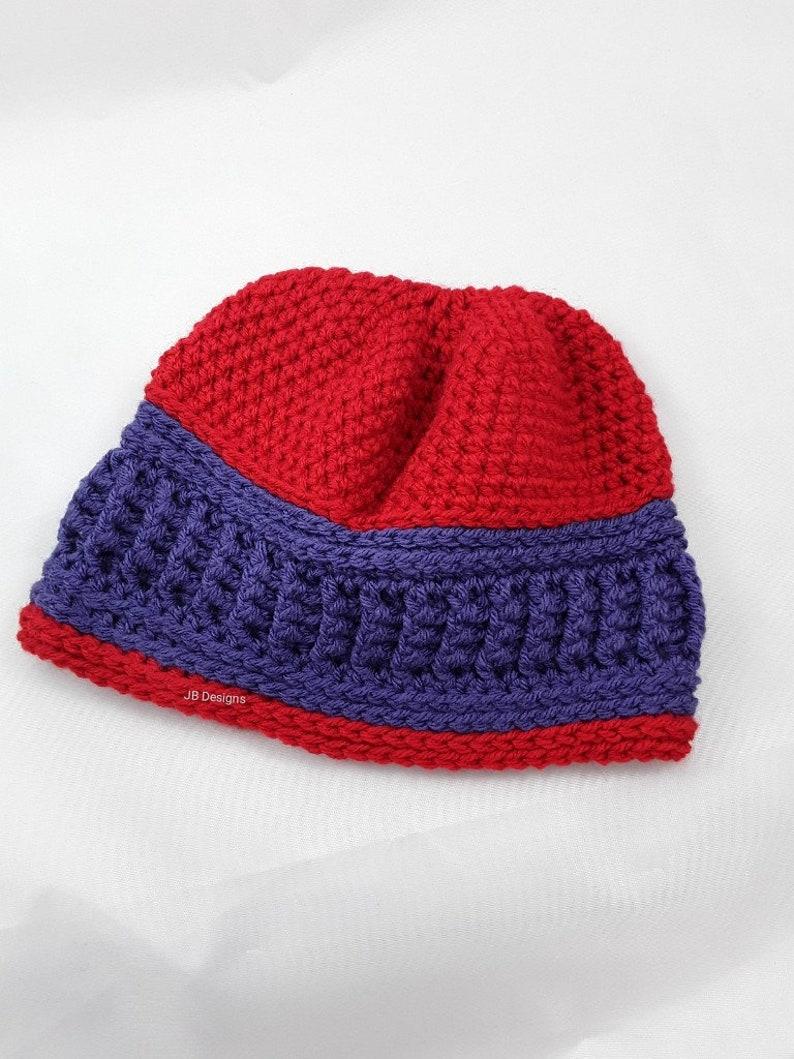 01441c8dc ribbed beanie hat, men, ladies, team colors, school colors, ribbed, beanie,  unisex, ski hat, winter hat, unique teen hat, red purple hat