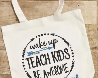 Grocery Tote Bag canvas tote bag Special Education teacher gift Everyday Tote Bag Gifts for teachers Teacher Tote Bag K5 Teacher Gifts