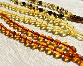 Tasbih Gift Amber Stones Yellow Tasbih Fathers Day Gift size 14mm x 14mm Fathers Day Rosary Yellow Amber Prayer Beads Amber Beads
