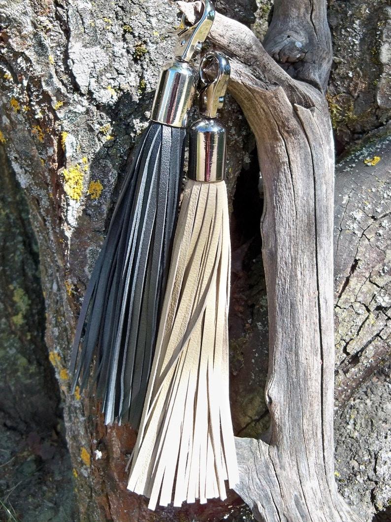Big Leather Tassel  Keychain