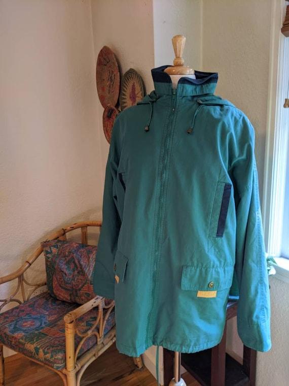 Vintage 1990's men's teal jacket coat L