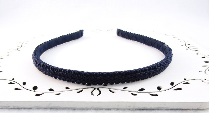Womans Navy Headband Adult Hard Headband Navy Everyday Etsy