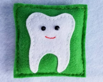 Apple Green Tooth Fairy Pillow