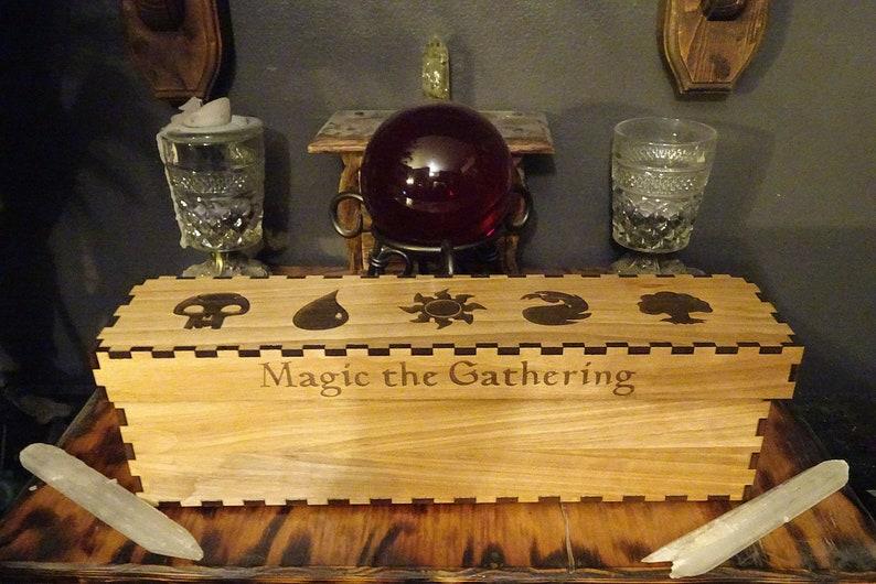 Magic The Gathering Wooden Card Storage Box