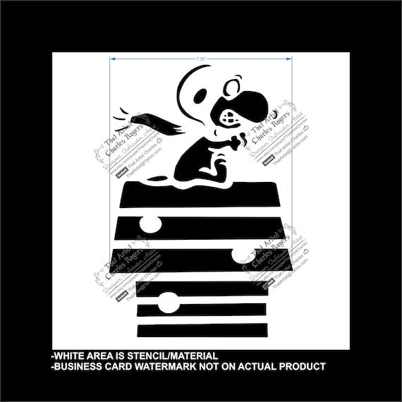 Reusable Snoopy Flexible Plastic Stencil
