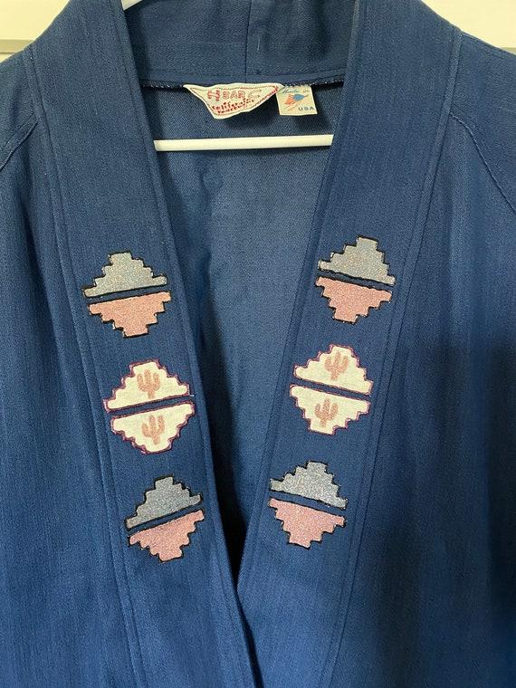Vintage H Bar C Denim Cactus Coat - image 6