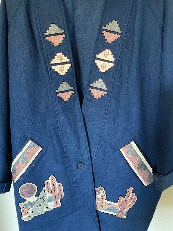 Vintage H Bar C Denim Cactus Coat - image 7