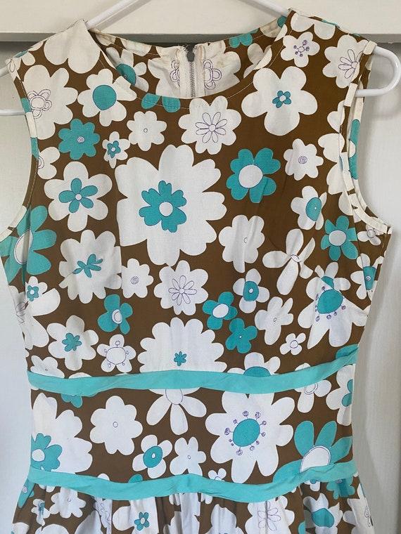 1960's Vintage Floral Playsuit Romper - image 5