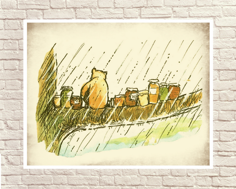 Classic Winnie the Pooh Pooh Wall Art Winnie the Pooh Art   Etsy