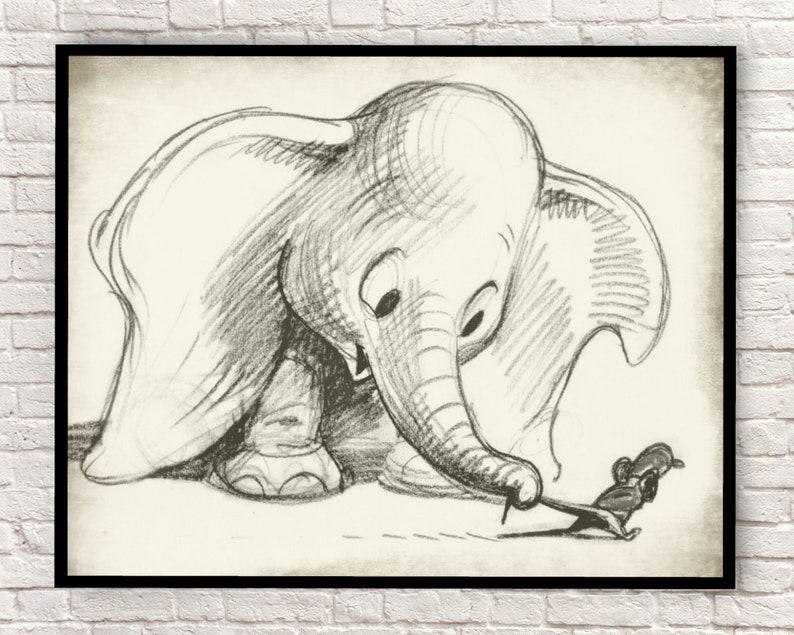 Dumbo Arte Della Parete Di Dumbo Dumbo Art Stampe Stampe Etsy
