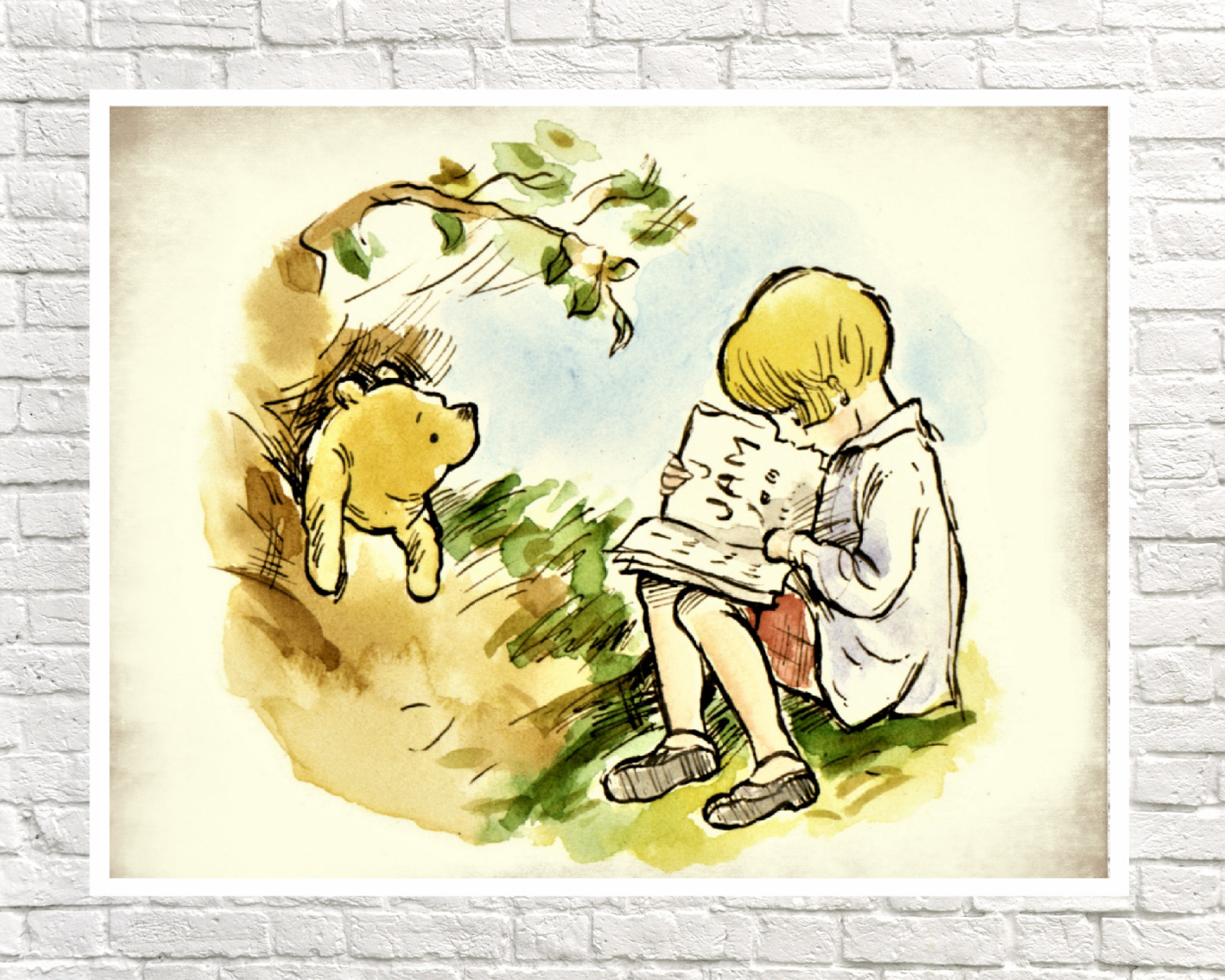Outstanding Classic Winnie The Pooh Wall Art Model - The Wall Art ...