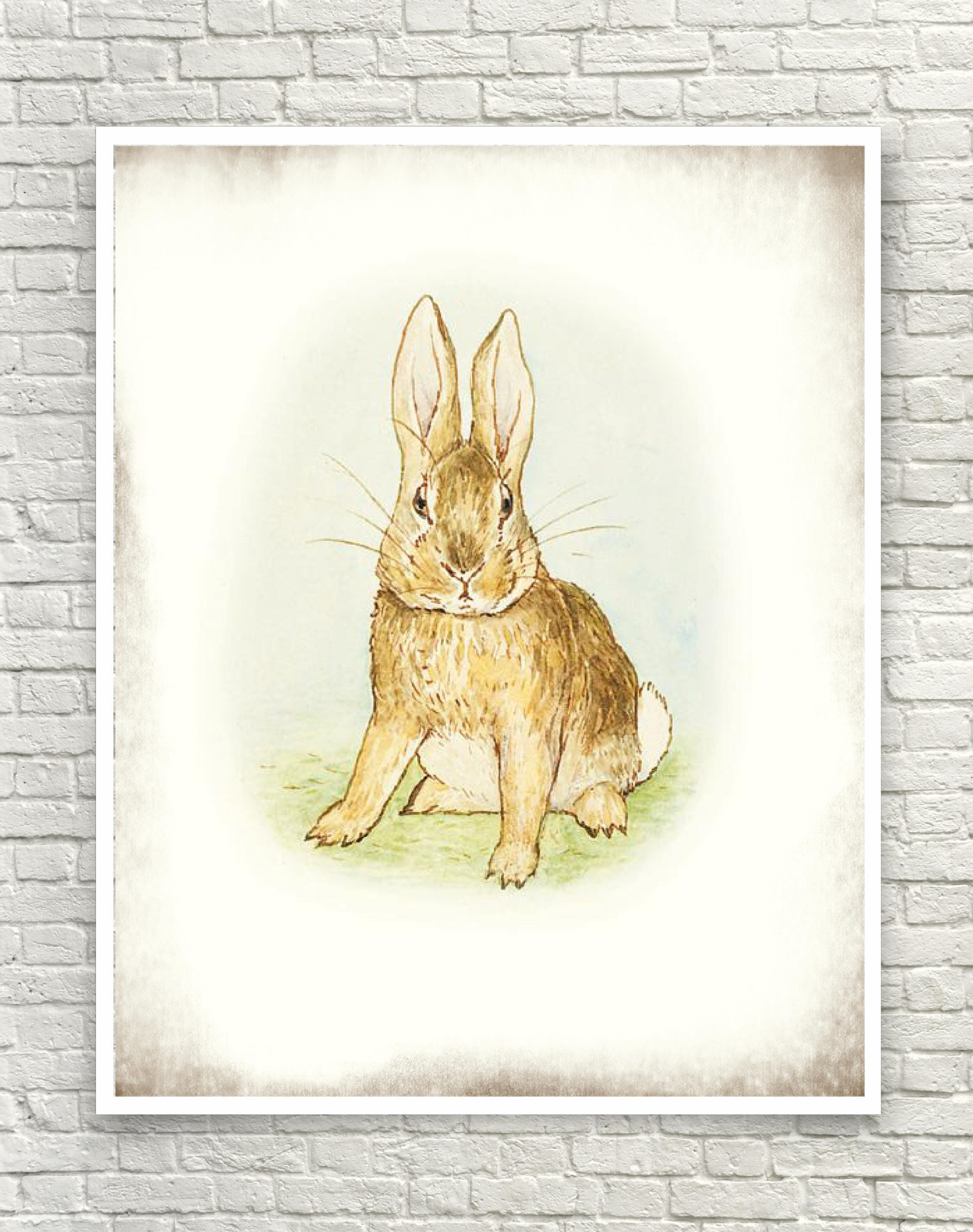Beatrix Potter Art Print Rabbit Art Print The Story of a | Etsy