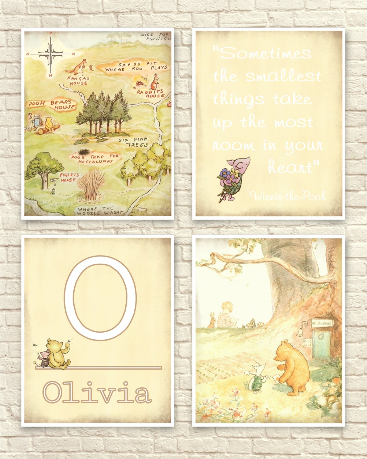 Enchanting Classic Pooh Wall Art Picture Collection - The Wall Art ...