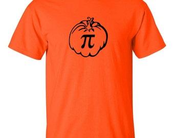 Pumpkin Pi Men's T-shirt Pie Halloween Thanksgiving Holiday Tee