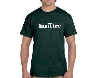 Inspire Men's T-shirt Funny Pi Science Math Teacher Geek Tee