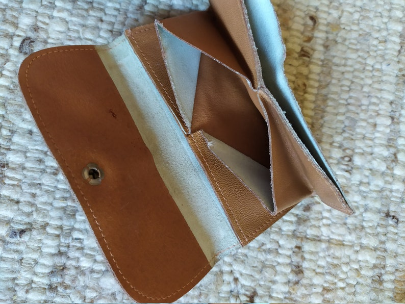New Home is Searching Natural Leather Soviet Era Simple Wallet
