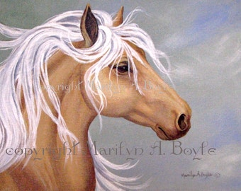 ORIGINAL ACRYLIC PAINTING; palomino horse, 11 x 14 stretched canvas, head and shoulders of horse. wall art, original art, Canadian art,