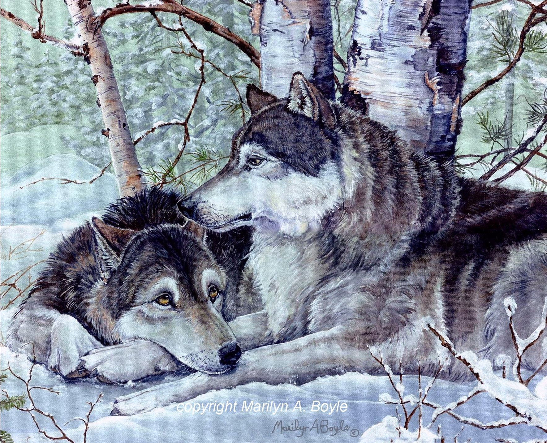 Wolf Cards Set Of Four Blank Cards Greeting Cards Hand Made From