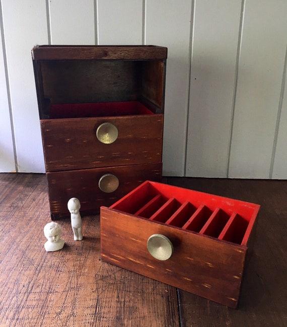 Kleines Set Schubladen Schrank Box Holz rustikale Industrie   Etsy